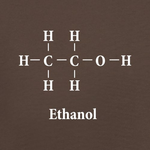 Ethanol Formula - Herren T-Shirt - 13 Farben Schokobraun