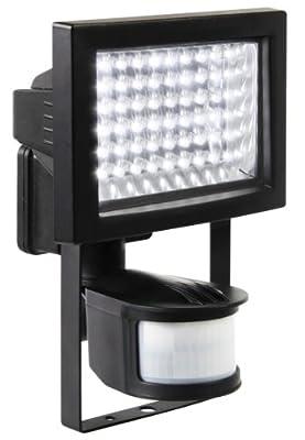 Ranex XQ1006 LED Fluter mit PIR Motion Detector [60x á 0,75 Watt], 210 Lumen, Erfassungsbereich 180° x 12 Meter , kalt weiß von Ranex GmbH auf Lampenhans.de