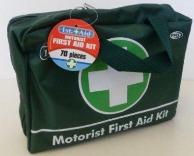1st Aid - Kit di primo soccorso per auto, posto di lavoro, taxi, composto da 70 pezzi
