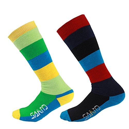 2 Paar Damen Skisocken Warm Skistrümpfe - Atmungsaktive Socken für Wintersport, Snowboard Skiing - Thermo Outdoorsocken Schnell Trocknend Funktionssocken Größe UK 4-7 EUR 35-39 (Kinder Snowboard-boots Größe 7)