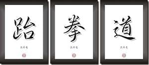 Taekwondo - China - Japan Calligraphy Characters Picture Set by C.K. Onlinehandel