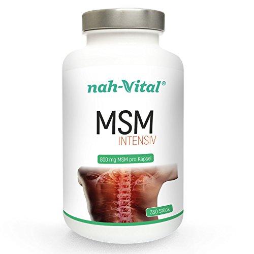 nah-vital MSM intensiv | 800mg | vegan, kristallzuckerfrei, laktosefrei | geprüfte deutsche Premiumqualität (1)