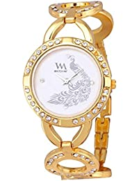 Watch Me Analog White Dial Stainless Steel Metal Strap Girls And Women's Watch WMAL-107-Gnew