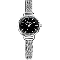 watch steel chain/ ladies fashion watch/Fashion metal chain strap quartz watch-Black
