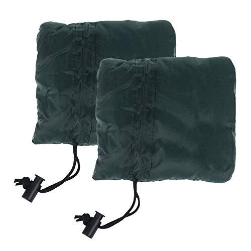 TREA2SURE Wasserhahn-Schutzabdeckung, 2 Stück, dunkelgrün, wasserdichte Nylon-Rohr, Rückfließ-Isolierung, Beutel für Winterfrostschutz