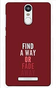 quote Designer Printed Back Case Cover for Xiaomi Redmi Note 3