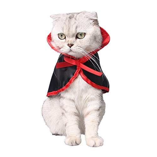Kostüm Pet Cute Halloween - WiseGoods Legend Halloween Pet Kostüme Cute Cosplay Vampir Umhang Cape für Kleine Hunde Katzen