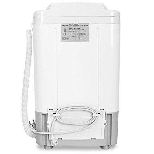 oneConcept SG002 • Mini-Waschmaschine • Camping-Waschmaschine • Toploader • für Singles • Studentenhaushalte • Camper • 2,8 kg Kapazität • 250 Watt Leistung • geräuscharm • weiß-blau
