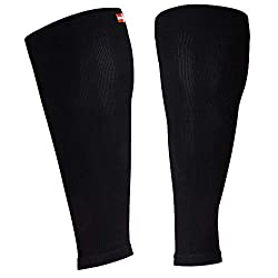 DANISH ENDURANCE Calf Compression Stockings Without Foot (Monochrome Black, L)