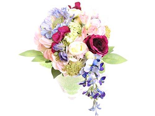 festlicher Biedermeier Gartenstrauss Regentraum Ø 20 cm aus Seidenblumen, hohe Qualität