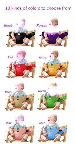 Silla de niño de alta cinturón de bebé comedor silla de seguridad cinturón del asiento correa de guardia para el bebé (3-36 mes) , black