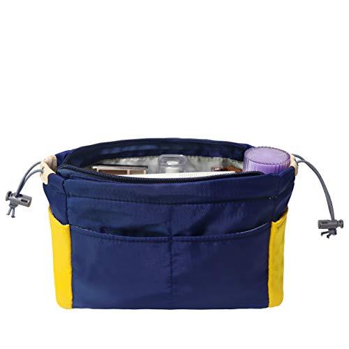 Soyizon Nylon Handtasche Handtasche Organizer Bag in Beuteleinsatz für Tragetasche Former Multi-Pocket-Reise Geldbörse Liner Fit LV Neverfull Speedy,Navyblue -