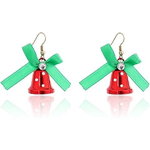 Lureme® Natale Retro Carina Stile Rosso Jingle Bells Hook Earring (02004727)