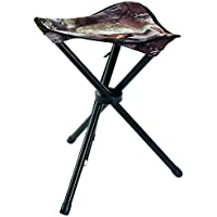 Allen Company Camouflage Three Leg Folding Hunting Stool - Strong Steel Legs - Next G2-13L x 13W x 17H inches