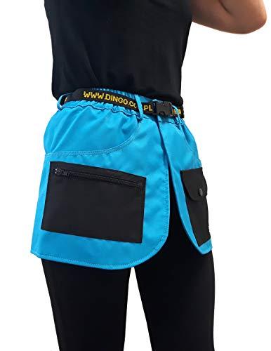 Dingo Dog Training Belt für Handler, Agility Trainer, Helfer, Handarbeit im Sportrock Style, viele Taschen blau 16460 -