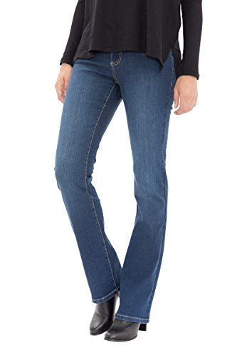 Way of Glory Bootcut Jeans in Cleaner Waschung Tamara Damen Bootcut-Jeans Basic Bootcut Fit (Basic-bootcut-jeans)