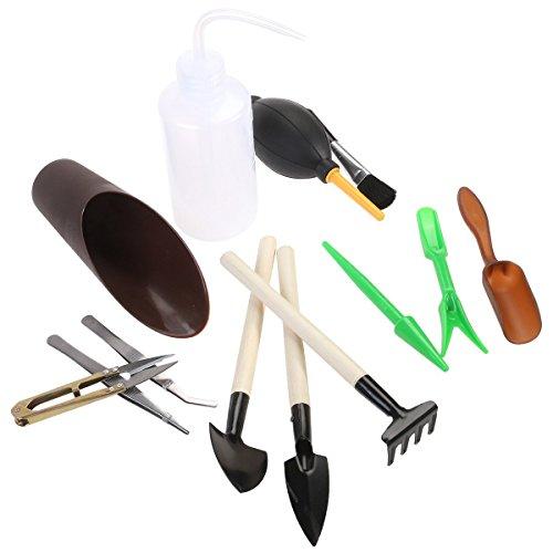 ounona Garten Umpflanzen Tools Mini Hand Werkzeuge Sukkulente Werkzeug Miniatur-Pflanzen Gartengeräte Set (13Teile)