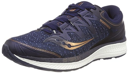 Saucony Men's Triumph ISO 4 Competition Running Shoes, Blue (Navy/Denim/Copper 30), 8.5 UK 43 EU
