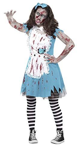 Tea Kostüm Party Mad - Smiffy's 45612XS - Zombie Tea Party Kostüm mit Kleid Latex Teacup und Stirnband