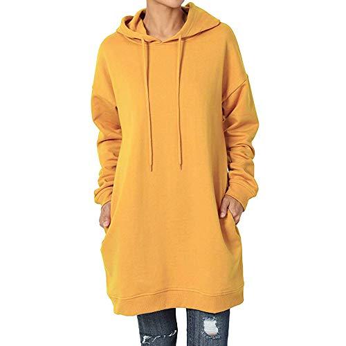 garm Hoodie Lang Casual Sweatshirt Pulloverkleider Beiläufige Herbst Winter Kleid Basic Mit Kapuze ()