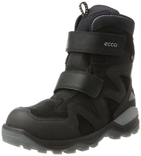 Ecco Unisex-Kinder Snow Mountain Stiefel, Silber (Black/Black/Black-Titanium/Black), 38 EU