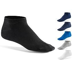 Mat & Vic's Calcetines cortos, cómodo, OEKO-TEX 100 - 35 36 37 38 39 40 41 42 43 44 45 46 (10 pares, Jeans Colors, UK 6-8.5 / EU 39-42)