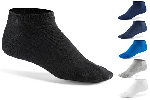 Mens Sneaker Socks (10 Pair Pack) by Mat & Vic's Cotton Classic Comfortable Breathable
