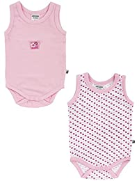 Jacky Baby Mädchen Achsel-Body ärmellos 2er-Pack Baby girl rosa 151706