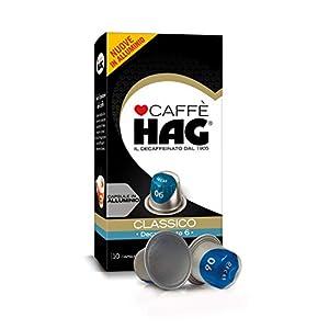 Hag - Capsule Caffè Decaffeinato Espresso Classico - Compatibili con Macchine Nespresso - 100 Capsule in Alluminio…