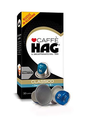 Hag - Capsule Caffè Decaffeinato Espresso Classico - Compatibili con Macchine Nespresso - 100, in Alluminio - Intensità 6