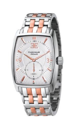 Thomas Earnshaw - ES-8009-33 - Robinson - Montre Homme - Automatique Analogique - Cadran Blanc - Bracelet Acier Bicolore