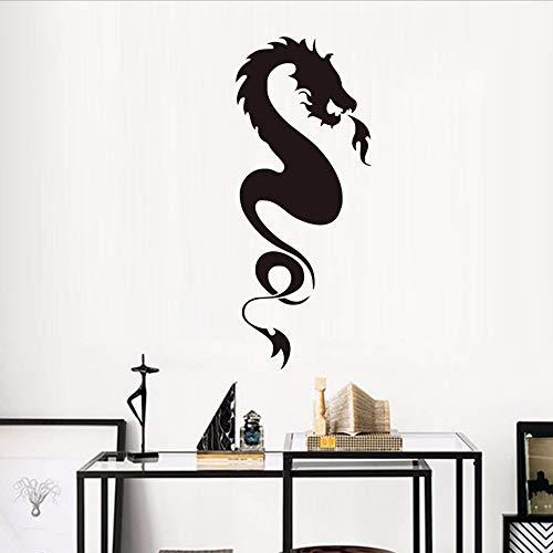 Waofe spitfires dragon wall stickers porta decorativa vinile rimovibile autoadesivo murale decorazione domestica accessori 44 * 104 cm