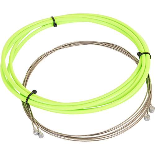 Pentagon Sports 2,5 m farbige Bremszughülle 7 Farben inkl. 2 Bremszüge 6 Endhülsen & 2 Endkappen, Farbe:neon grün