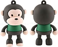Ricco 8 GB Silicon Baby Monkey USB 2.0 High Speed Flash Memory Drive for Windows and Mac OS - Brown
