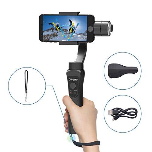 Gimpro Stabilisateur Smartphone Gimbal 3-Axes Handheld pour Mobile Phone Téléphone pour iPhone Android Action...