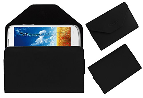 Acm Premium Pouch Case For Lava Xolo Q600 Flip Flap Cover Holder Black  available at amazon for Rs.179