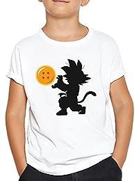 OKAPY Camiseta Baby Goku. Una Camiseta de Hombre con Goku de Pequeño Dentro de una Bola de Dragon. Camiseta Friki de Color Negra q1FMu