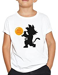 OKAPY Camiseta Baby Goku. Una Camiseta de Hombre con Goku de Pequeño Dentro de una Bola de Dragon. Camiseta Friki de Color Negra