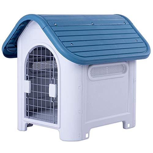 JOYZD Zwinger Hundehütten Zwingerabdeckungen Hundehütte Dog House Outdoor Winter Pet House,Tragbare Hundehütte, Tierzimmer mit Tür, Kunststoff-Hundehütte für drinnen und draußen