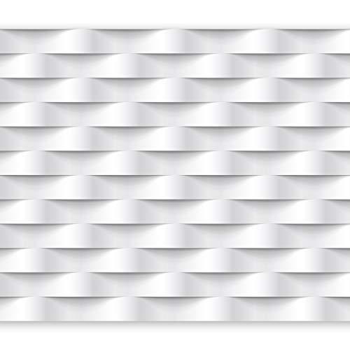 murando Carta da parati 400x280 cm Fotomurali in TNT Murale alla moda Decorazione da Muro XXL Poster Gigante Design Carta per pareti Astrazione bianco 3D f-B-0060-a-a