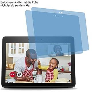 2X ANTIREFLEX matt Displayschutzfolie für Amazon Echo Show 2nd / 2. Generation 2018 Schutzfolie Bildschirmschutzfolie Schutzhülle Displayschutz Displayfolie Folie