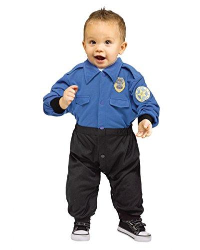 Polizei Uniform Baby-Strampler als Kostüm-Anzug für Fasching S