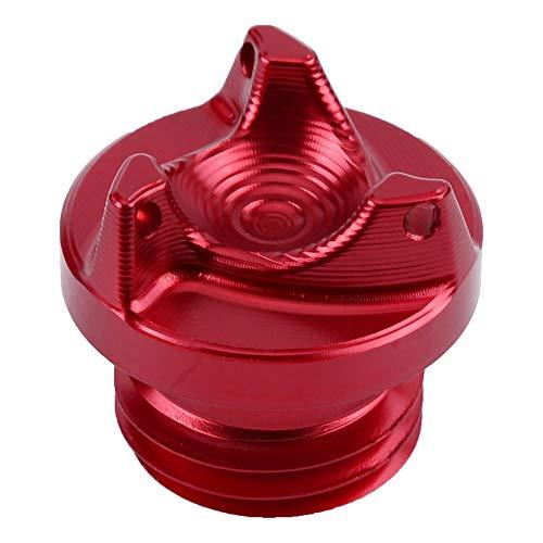 EBTOOLS Coperchio tappo serbatoio moto, coperchio serbatoio olio per r25 r3 3.0mm 14-16, lega di alluminio(rosso)