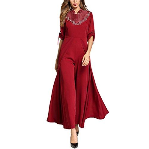 Zhhlinyuan Caftan / Kaftane Phantasie Hochzeitskleid Abayas Mode Slim Fit Chiffon Kleider für Damen Frauen - Marokkanische Brust