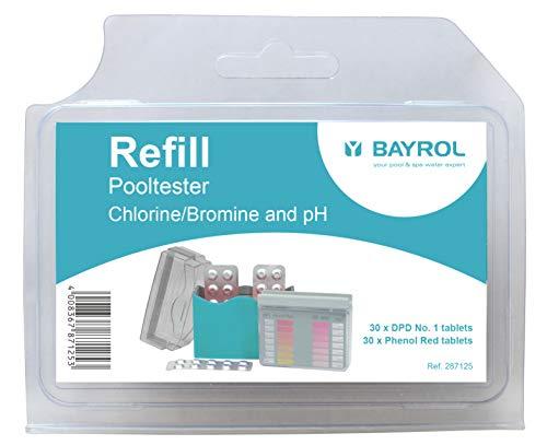 Bayrol 287125 Tabletten Nachfüllpackung pH/Chlor für Pooltester (Dpd 1 Tabletten)