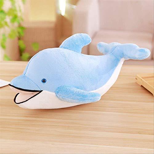 ahzha Riesiges Weiches Delphin-Plüschtier Großes Weiches Angefülltes Delphin-Tier-Kissen-Puppe-Baby-Geschenk 120Cm / 100Cm / 80Cm Baby-Kissen-Spielzeug-Geschenk 120 Blau