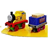Babytintin Die Cast Double Sided Magnetic Train Engine Toy Set (Multi Color) (Two Pieces)