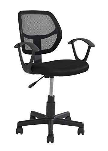 Home4You Drehstuhl Schreibtischstuhl für Kinder & Jugendliche | Mesh | Schwarz | höhenverstellbar - Jugend-schreibtisch Stuhl