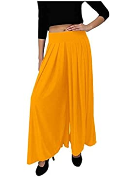 Indian Handicrfats Export Dolce Divaa Flared Women's Yellow Trousers