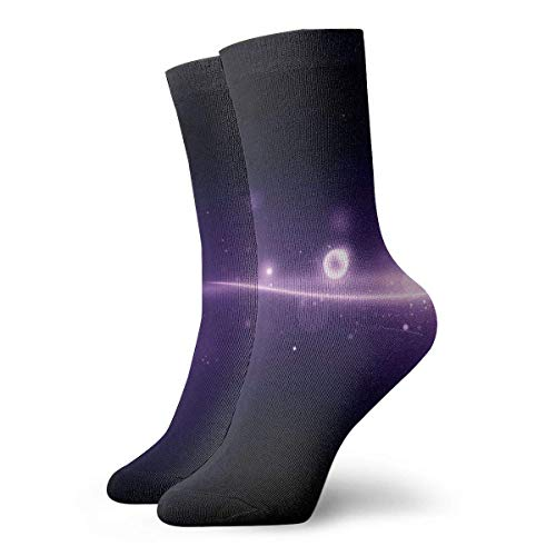 Drempad Luxury Sportsocken Awesome Purple Univers Light Adult Short Socks Cotton Cozy Socks for Mens Womens Yoga Hiking Cycling Running Soccer Sports